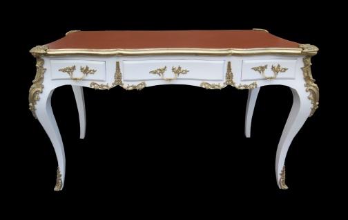 Casa Padrino Luxus Barock Schreibtisch Weiss / Gold / Apricot - Sekretär Luxus Möbel - Limited Edition - Vorschau 2