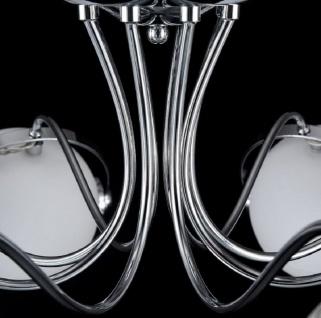 Casa Padrino Designer Deckenleuchte Silber / Weiß Ø 86 x H. 28 cm - Moderne Deckenlampe mit kugelförmigen Lampenschirmen - Vorschau 4