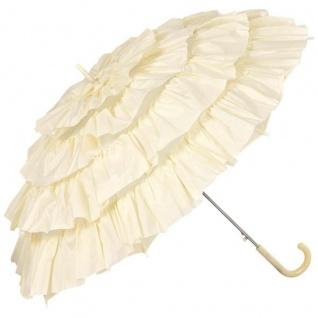 MySchirm Designer Automatikschirm eleganter Schirm für viele Gelegenheiten in creme - romantischer Dekoschirm