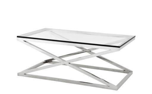 Casa Padrino Luxus Art Deco Designer Couchtisch 120 x 70 x H. 47 cm - Wohnzimmer Salon Tisch - Luxus Kollektion