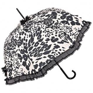 Chantal Thomass Designer Damen Regenschirm in weiß mit schwarzen Leopardenflecken - sehr Elegant - Made in Paris