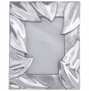 Designer Bilderrahmen aus poliertem Aluminium von Casa Padrino Silber Höhe 24 cm, Breite 20 cm - Bilder Rahmen Foto Rahmen