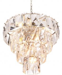Casa Padrino Luxus Kristallglas Kronleuchter Ø 60 x H. 65 cm - Edel & Prunkvoll