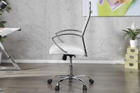Casa Padrino Bürosessel Drehsessel Drehstuhl Bürostuhl Bürosessel Weiß / Chrom - Modern Line - Vorschau 2