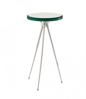 Casa Padrino Luxus Art Deco Designer Beistelltisch Nickel 30 x H. 60 cm - Hotel Tisch Möbel