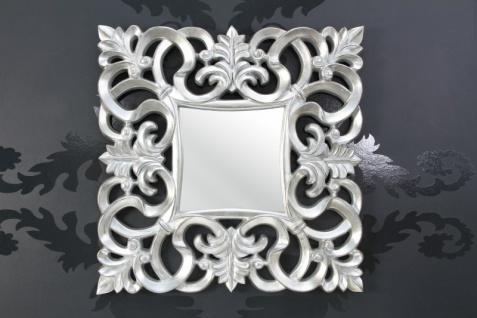 Barock Wandspiegel Silber Antik, Höhe 76 cm, Breite 76 cm, Edel & Prunkvoll