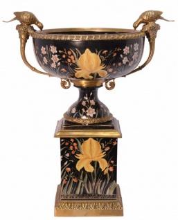 Casa Padrino Luxus Porzellan Schüssel mit 2 Griffen - Barock Schüssel