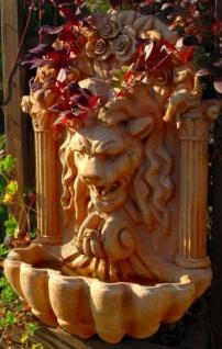 Casa Padrino Barock Kunststein Wandbrunnen Löwe H. 97 cm - Verschiedene Farben - Gartenbrunnen im Barockstil