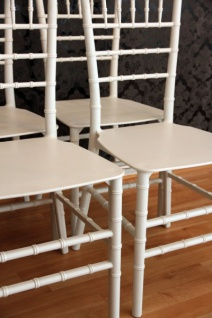 4er Set Designer Acryl Stuhl Weiß - Casa Padrino Ghost Chair Möbel Designer Möbel - Polycarbonat Stühle - Vorschau 3
