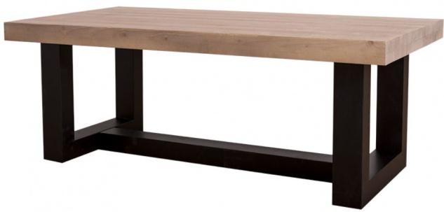 Casa Padrino Landhausstil Couchtisch Mit Eichenholz Tischplatte 120 X 60 X  H. 45 Cm