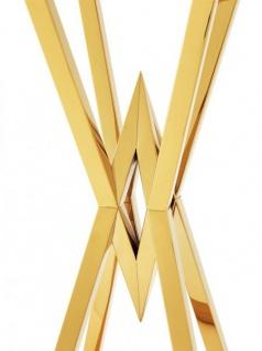 Casa Padrino Luxus Beistelltisch / Säule Edelstahl Gold Finish 35 x 35 x H 101 cm - Tisch Möbel - Vorschau 3