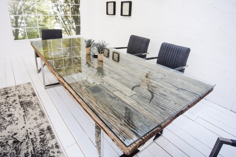 Casa Padrino Designer Massivholz Esstisch Natur Mod3 - Teakholz - 240 x 100 x H.75 cm - Aus massivem Teakholz - Vorschau 2