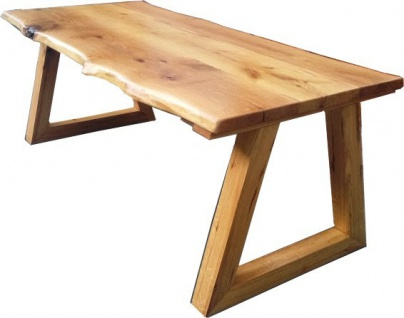Casa Padrino Vintage Esstisch Eiche Rustikal Massiv 200 x 100 cm Mod TR5 - Landhaus Stil Tisch massives Eichenholz - Vorschau 3