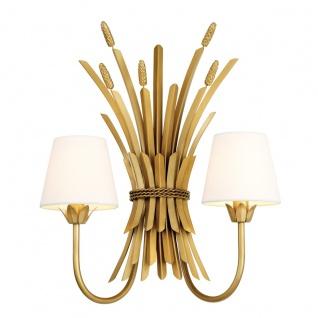 Casa Padrino Luxus Wandleuchte Antik Gold 47 x 24 x H. 53 cm - Hotel & Restaurant Wandlampe