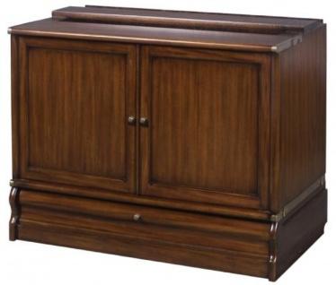 Casa Padrino Luxus Mahagoni Bücherschrank mit 2 Türen und Schublade Dunkelbraun 86 x 47 x H. 68 cm - Luxus Büromöbel