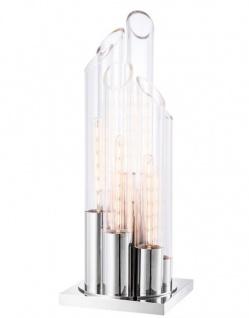 Casa Padrino Designer Tischleuchte 30 x 30 x H. 80 cm - Luxus Hotel Tischlampe