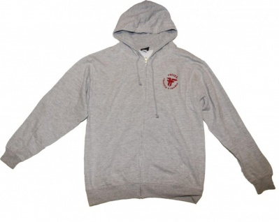 Fallen Skateboard Pullover Hoodie Zip Grey sweater