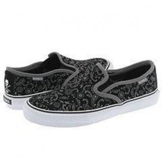 Circa Skateboard Schuhe Al 50 Slips Black/Grey/Paisley Sneaker Shoes