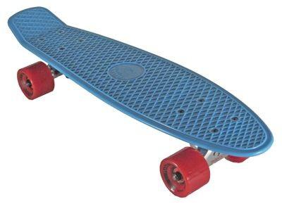 Oldschool Skateboard Plastic Cruiser 70s Style Blue / Red Plastik Skateboard - Vinyl Skateboard Cruiser Longboard