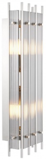 Casa Padrino Luxus Wandleuchte Silber / Grau 23 x 12 x H. 65 cm - Elegante Wandlampe mit Rauchglas - Luxus Qualität