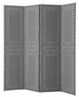 Casa Padrino Raumteiler Schwarz / Weiß 180 x H. 180 cm - Luxus Wohnzimmermöbel