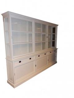 Großer Shabby Chic Landhaus Stil Schrank mit 6 Türen und 3 Schubladen - Buffetschrank - Schrank Esszimmer