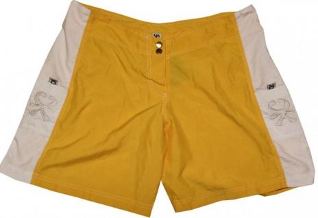 Kitechicks Skateboard Herren Badeshorts Yellow/White