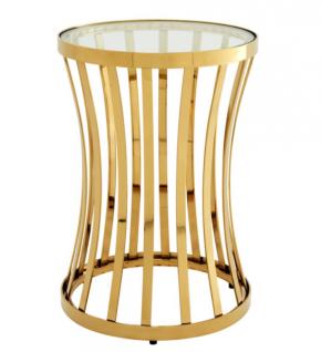 Casa Padrino Luxus Art Deco Designer Beistelltisch Gold 40 x H. 59 cm - Luxus Qualität