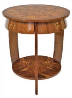 Casa Padrino Art Deco Beistelltisch Mahagoni Intarsien H65 x 75cm - Ludwig XVI Antik Stil Tisch - Möbel - Vorschau 2