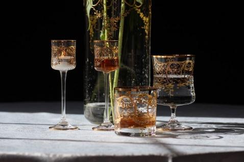 Casa Padrino Luxus Barock Likörglas 6er Set Gold Ø 6 x H. 17, 5 cm - Handgefertigte und handbemalte Likörgläser - Hotel & Restaurant Accessoires - Luxus Qualität - Vorschau 2