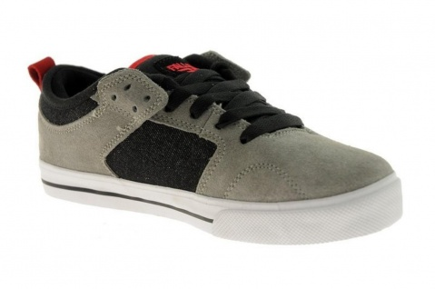 Fallen Skateboard Schuhe Clipper Grey/BLK/RED
