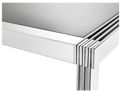 Casa Padrino Luxus Esstisch in silber mit Rauchglas 195 x 100 x H. 78 cm - Luxus Qualität - Vorschau 2