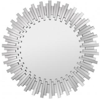 Casa Padrino Luxus Wandspiegel Ø 100 cm - Moderner runder Spiegel - Garderoben Spiegel - Wohnzimmer Spiegel