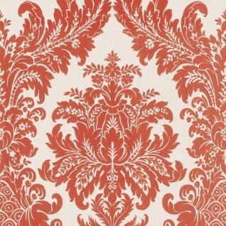 Casa Padrino Barock Textiltapete Weiß / Rot 10, 05 x 0, 53 m - Luxus Wohnzimmer Tapete