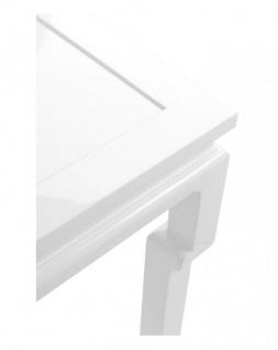 Casa Padrino Luxus Mahagoni Konsole Weiß 160 x 45 x H. 78 cm - Luxus Hotel Möbel - Vorschau 2