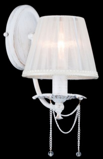 Casa Padrino Barock Kristall Wandleuchte Creme Gold 15 x H 30 cm Antik Stil - Wandlampe Wand Beleuchtung