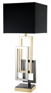Casa Padrino Designer Tischleuchte / Tischlampe - Luxus Wohnzimmer Accessoires