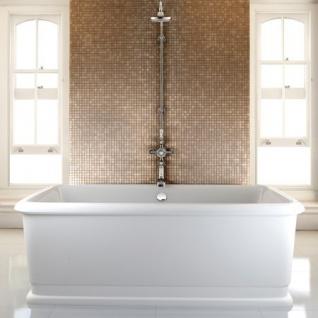 Casa Padrino Badewanne freistehend rechteckig 1800mm BLon - Freistehende Retro Antik Badewanne