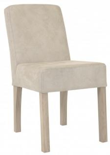 Casa Padrino Designer Esszimmer Stuhl ModEF 35 Beige Leder - Hotelmöbel - Holz Buche - Vorschau 2