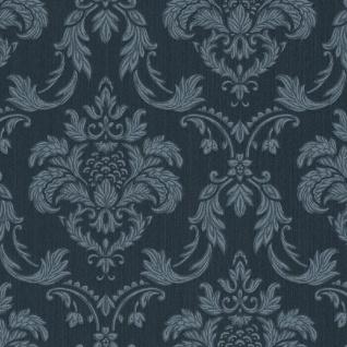 Casa Padrino Barock Textiltapete Blau 10, 05 x 0, 53 m - Wohnzimmer Tapete im Barockstil - Hochwertige Qualität