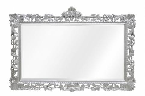 Casa Padrino Barock Spiegel Silber Handgefertigt 193 x 110 cm - Holzspiegel - Barock Möbel