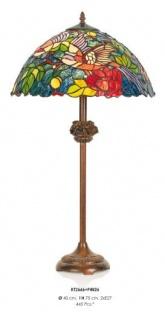 Handgefertigte Tiffany Hockerleuchte Tischleuchte Höhe 70 cm, Durchmesser 40 cm - Leuchte Lampe