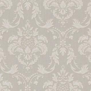 Casa Padrino Barock Textiltapete Grau / Weiß / Beige 10, 05 x 0, 53 m - Wohnzimmer Tapete im Barockstil - Hochwertige Qualität