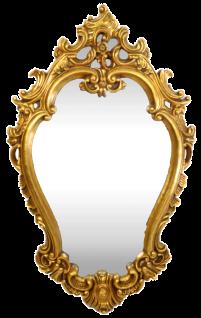 Casa Padrino Barock Wandspiegel Gold 65 x H. 105 cm - Prunkvoller Spiegel im Barockstil - Barockmöbel