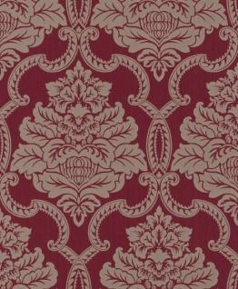 Casa Padrino Barock Textiltapete Rot 10, 05 x 0, 53 m - Barock Tapete - Deko Accessoires