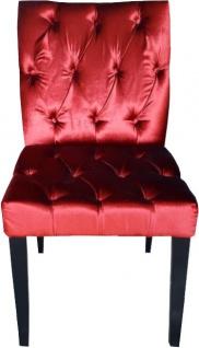 Casa Padrino Barock Esszimmer Stuhl Bordeaux Rot / Schwarz - Designer Stuhl - Luxus Qualität - Vorschau 1