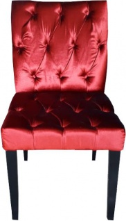 Casa Padrino Barock Esszimmer Stuhl Bordeaux Rot / Schwarz - Designer Stuhl - Luxus Qualität