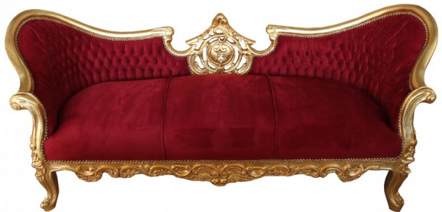 Barock Sofa Vampire Bordeaux/Gold- Limited Edition - Lounge Couch