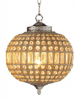 Casa Padrino Luxus Kronleuchter - Luxus Hängeleuchte Nickel Durchmesser 38 x H 45 cm