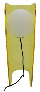 Casa Padrino Luxus Designer Tischleuchte Gelb 28, 5 x 17 x H. 59 cm - Moderne Leuchte - Vorschau 5
